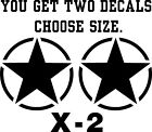 US Military Star Car Jeep Vinyl Sticker Decal Various Colors and Size