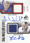 10-11 SP Game Used Inked Sweaters Dual Auto Henrik Lundqvist Gustavsson 15