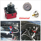 Universal Adjustable Fuel Pressure Regulator Kit + 160psi Gauge AN 6 Fitting End