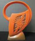 Roseville Pottery Silhouette Basket 710-10 Russet Orange Excellent FREE SHIPPING