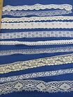 100 YDS  MIXED  WHITE AND ECRU  NEW AND VINTAGE SEWING LACE  1