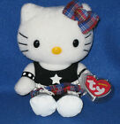 TY HELLO KITTY ROCK BEANIE BABY - NEAR MINT with MINT TAGS - PLEASE READ