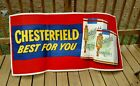 LARGE VINTAGE CHESTERFIELD INDOOR OUTDOOR BANNER ADVERTISING SIGN