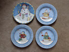 LOT 3 DEBBIE MUMM SNOWMAN PLATES & 1 MORE SNOWMAN PLATE NEW, NEVER USED
