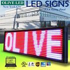 Olive Led Sign 3color Rwp 12x31 Pc Programmable Scroll. Message Display Emc