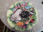 Fitz & Floyd Country Chic Canopy Plate Cow Flowers Bird Fruit