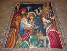 Christmas Nativity Blessed Be The Name Tapestry Afghan Throw