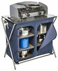 Camp Kitchen Organizer Stand Table Camping Kitchen Center Outdoor Food Prep Best