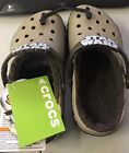 Crocs Star Wars Chewbacca Crocband lined clogs Khaki Brown Boys US Size 3 NWT