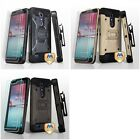 For ZTE Grand X Max 2 Kirk Zmax Pro Hybrid TUFF IMPACT Holster Hard Case Cover