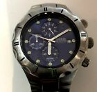 Vintage Guess Waterpro Blue Dial Multi function 100M Men's Stainless Watch