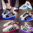 SAGUARO Unisex LED Light Up Shoes Luminous Sneakers Sportswear Striped Casual