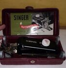 Singer Buttonholer 160743 Complete in Maroon Hardcase 1940s w/manual