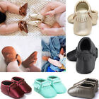 Newborn Baby Boy Girl Soft Leather Crib Shoes Moccasin Tassel Prewalker 0 18M US