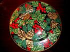 FITZ & FLOYD HOLIDAY PINE SALAD/DESSERT PLATE-NEW WITH TAG!
