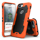For iPhone 7 Plus Proton Heavy Duty Case Holster Military Grade Cover Orange