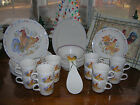 Corelle ~ Country Morning~Set Of 4 Coffee Tea Cup/Mug ~ Rooster~New~Sandstone