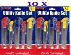 New 10 x Standard Retractable Snap Off Utility Knife Cutter Handle No Blade