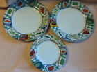 Fitz & Floyd Americana Country Cupboard (2) Dinner Plates and (1) Salad Plates