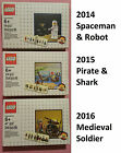 LEGO 5002812 5003082 5004419 Annual Classic Collectible Spaceman Pirate Knight