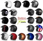 Daytona Cruiser Helmet Slim Line 3 4 Open Face Motorcycle DOT Approved 2XS 4XL