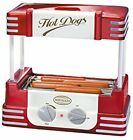 NEW Hot Dog Roller Electric Rolling Hotdog Grill Cooker Machine w/ Bun Warmer