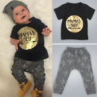 2PCS Newborn Toddler Infant Baby Kids Boy Clothes T shirt Tops+Pants Outfits Set