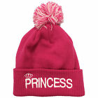 Princess Embroidered Bobble Beanie His & Hers Couple Prince Hipster Fashion Hat