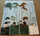 Warren Kimble Folk Art Four Seasons Crafters Tapestry Bellpull Fabric Remnant