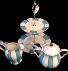 Beautiful Grace's Teaware 2 Tier Dessert Stand + Creamer and Sugar Bowl-New