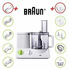 BRAUN FP3020 Food Processor w/ The Coarse Slicing Insert Blade And French fry Sy