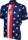 World Jerseys 1956 Retro USA Mens Cycling Jersey Red White Blue XL