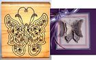 Holly Berry House BUTTERFLY Wood Mtd Rubber Stamp 1608L NEW Make 3D FREE SHIP