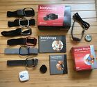 Bodybugg Activity Tracker Digital Display Bodymedia with 6 bands and boxes