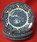 CHURCHILL English Scene Blue - Set of 5 Bread & Butter Plates