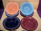 6-Fiesta Retired Stacking Cereal Bowl -Lot Fiestaware NEW 1st lapis,cobalt,plum,