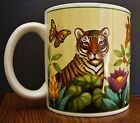 Sakura 10oz MUG Stephanie Stouffer JUNGLE ANIMALS Tiger Toucan Zebra Butterfly