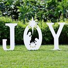 New Christmas Outdoor Joy Nativity Holy Scene Beautiful Yard Sign