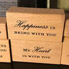 Wood Rubber Stamps 2003 ALL NIGHT MEDIA Set of 6 ANNA GRIFFIN Words