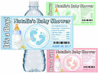 30 BABY SHOWER FAVORS WATER BOTTLE LABELS BABY FEET GLOSSY PARTY FAVORS