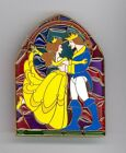 Disney Shopping Beauty  the Beast Belle Stained Glass Jumbo LE 100 Pin  Card