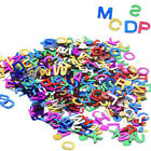 200pcs Letters alphabet A Z Metalic Sequin Confetti for Craft Scrapbooking