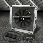 3 ROW ALUMINUM RADIATOR+1X 16FAN+OIL COOLER BLACK FOR 87 06 JEEP WRANGLER YJ TJ