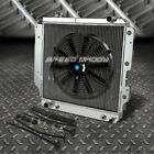3 ROW ALUMINUM RADIATOR+1X 16FAN BLACK FOR 87 06 JEEP WRANGLER YJ TJ 24 42