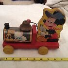 Vintage Fisher Price Disney Mickey Mouse 485 Choo Choo Pull Toy
