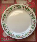 Sale Gibson Christmas Charm Dinner Plates - Set of 4- Holly, Red Berries  9.5