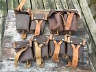 4 Russian Military Surplus Mosin Nagant 7.62x54 Rifle Leather Ammo Dual Pouch