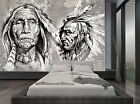 Black White American Native Vintage Wall Mural Photo Wallpaper GIANT WALL DECOR