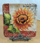 TUSCAN SUNFLOWER by International Tre Sorelle Studios 1 Square Salad Plate