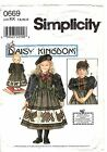 Doll DRESS 0669 Daisy Kingdom 7-8-10-12 UNCUT